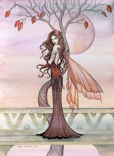 """""Autumn"" Fairy Art by Molly Harrison"" by Molly Harrison 