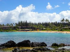 Napili Bay is a beautiful family beach in Maui. It has tide pools and rock along with white sand beach and the Gazebo restaurant is steps away.