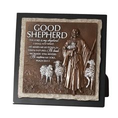 Lighthouse Christian Products Cast Stone Moments of Faith Good Shepherd Small Sculpture Plaque, 7 1/2 x 7 1/2' ** Read more at the image link. (This is an affiliate link) #Plaques