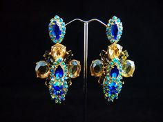 Golden Sapphires earrings