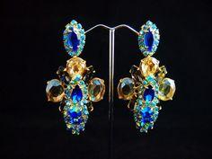 Golden Sapphires earrings