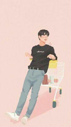 Wallpaper {Cool} + Cover Cerita Wattpad - Cowok Hits - Page 3 - Wattpad Got7 Fanart, Kpop Fanart, Kpop Drawings, Cute Drawings, Cover Wattpad, Cover Boy, Cute Couple Art, Got7 Jinyoung, Korean Art