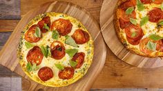 Rachel Ray's (Pizza) Ricotta Frittata- Who could say no to THIS pizza for breakfast?!