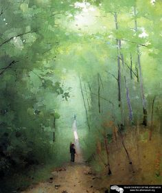 Abbot Handerson Thayer - Landscape at Fontainebleau Forest