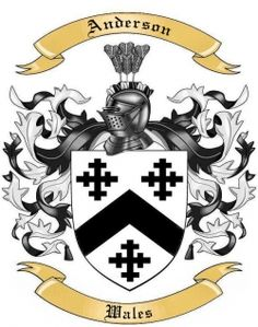 Anderson Family Crest from Wales