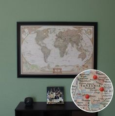 World Travel Map with Pins. Everywhere we've traveled together- cant wait to get started!
