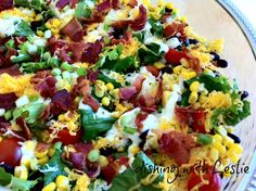 Cornbread Salad - Wow your Labor Day guests with this incredible dish! Cant wait to try this :) labor day party Veggie Dishes, Side Dishes, Southern Cornbread Salad, I Love Food, Good Food, Yummy Food, Great Recipes, Favorite Recipes, Salads To Go