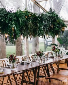 "163 Likes, 4 Comments - Byronviewfarm (@byronviewfarm) on Instagram: ""Tropical lush green foliage for Shannon & Jake from @beautiflora with furniture from…"""