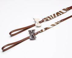 Texas Zebra - Luxury leather dog leash | Signe Louka