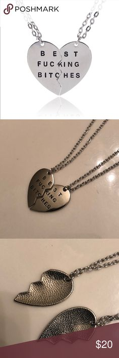 """BFB 👯♀️ Silver Necklace Set -Silver  -Length 13.5"""" -New in packaging  ♥️Gift this awesome Necklace to you Posh friend forever or one of you girlfriends you just simply cannot live without!♥️ BUNDLE AND SAVE  MAKE ME AN OFFER Jewelry Necklaces"""