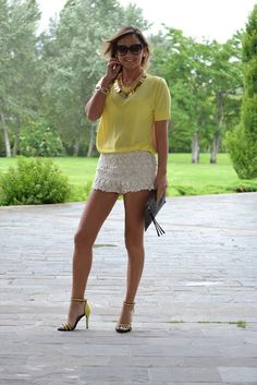Short Renda + Neon - Zara