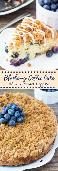 Fluffy, buttery Blueberry Coffee Cake with Streusel Topping. Bursting with fresh berries, perfectly moist & perfect for spring! Take your blueberry muffins up a notch and make this Blueberry Coffee Cake instead.