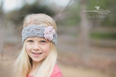 This adorable spring headband with a button flower comes in all sizes from newborn to adult. It is a perfect transition piece as the weather starts to warm up.  #imayarner #headband #etsy #crochetheadband #laceheadband