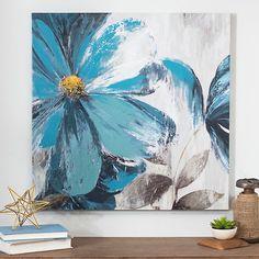 Blue Florals I Canvas Art Print | Kirklands
