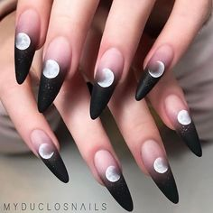 Really searching for latest nail art designs to show off in this year? If yes then we've posted here amazing colorful black and pink long nails designs for more cute nails look in year Perfect Nails, Gorgeous Nails, Pretty Nails, Fun Nails, Glitter Nails, Perfect Makeup, Witchy Nails, Goth Nails, Gypsy Nails