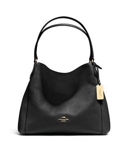7680f6565e437 Coach Edie Shoulder Bag 31 In Refined Pebble Leather