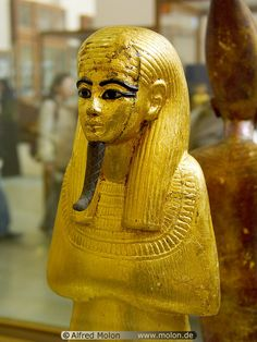 Golden statue,Ancient Egyptian.