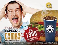 Prueba hoy tu combo QHamburguesa con refresco. Bs.1990 #Almuerza hoy con nosotros. #TeProvoca! http://ift.tt/2esurzT