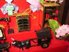 ひな飾り(お道具)手作り 人形
