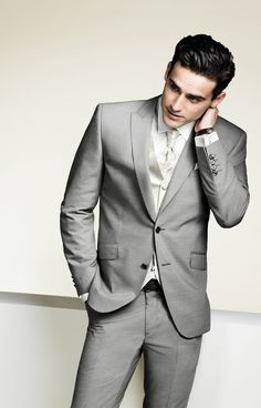 Digel. Perfect in grey .... I would love if my soon to be husband to wear something similar.