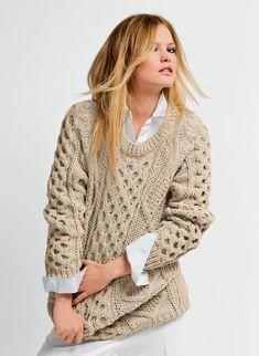 Breipatroon Ierse trui