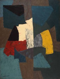 Serge Poliakoff, Abstract Composition 1954