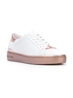 MICHAEL MICHAEL KORS Kyle Sneakers Michael Kors Shoes, Rose Gold, Sneakers, Leather, Shopping, Fashion, Tennis, Moda, Slippers