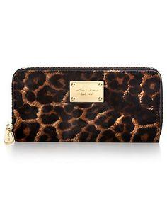 I so need this added to my collection! MICHAEL Michael Kors Handbag, Zip Around Continental Haircalf Wallet - Shop All Michael Kors Handbags & Accessories - Handbags & Accessories...