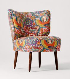 L I B E R T Y + Swoon Editions - The Duke Cocktail Chair in Patricia Spice- swooneditions.com - #patternedsofa #libertysofa #artfabric #pattern #furniture #libertyfabric #libertypattern