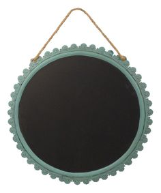 Look at this Turquoise Circle Chalkboard on #zulily today!