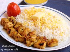 Joojeh Kabab (Persian Grilled Saffron Chicken)
