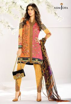 Asim Jofa AJL-9A Digital Lawn 2017 Price in Pakistan famous brand online shopping, luxury embroidered suit now in buy online & shipping wide nation..
