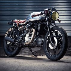 """dropmoto:  """"I just wanted a bike with loud pipes where you get on, start the engine and smile. It's motorcycling in its original form."""" Love it or hate it, we can't disagree with the intent. 1978 CX500 from Germany's Patrick Sauter. #honda #cx500 #caferacer #avon #bratstyle #dropmoto"""