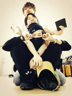 V, J-Hope, and Jimin. Aww they're so cute #bts