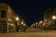 Historic Downtown Toccoa After Dark