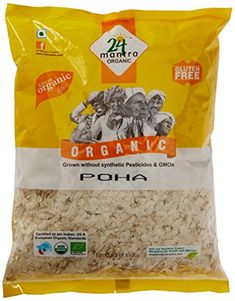24 Mantra Organic Poha Flattened rice, which is easily digestible No cholesterol and trans fat Product Gourmet Recipes, Snack Recipes, Snacks, Grocery Items, Indian Breakfast, Grow Organic, Trans Fat, Organic Recipes, Cholesterol