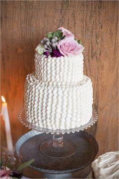 white and purple wedding cake #weddingcake @weddingchicks