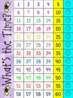 telling time to the minute...printables