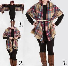 The Plaid Tartan Scarf is a must have of ours, so we'll show you our favorite ways to wear a blanket scarf this season.
