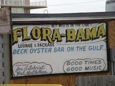 Flora-Bama lounge, package shop and oyster bar on the Florida and Alabama state lines in Perdido   Key Florida.Redneck Riviera