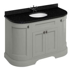 Burlington 100 Dark Olive Left Hand Corner Wall Hung Vanity Unit with Minerva Worktop & Basin Freestanding Vanity Unit, Bathroom Vanity Units, Wall Hung Vanity, Bathroom Doors, White Bathroom, Bathroom Furniture, Bathrooms, Minerva Worktop, Burlington Bathroom