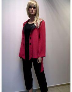WDZIANKO - LEN  250,00 zł brutto Stan:  Nowy produkt  KAPTUREK  kolor czerwony  rozmiar S ,  L