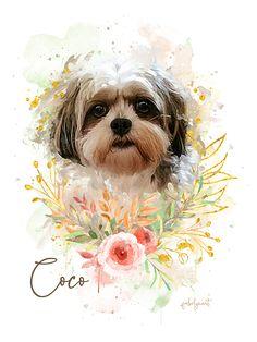 Exclusive Custom Pet Portrait of Furry babies – FabolynArt Shih Tzu, Custom Dog Portraits, Pet Portraits, Painted Window Art, Dog Memorial Tattoos, Cow Art, Pet Rocks, Dog Lover Gifts, Cool Artwork