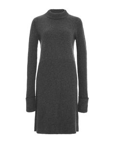 Sally Lapointe | Gray Silk Cashmere Knit Tunic Dress | Lyst Dress Lyst...