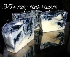great list of easy soaps to make at home.