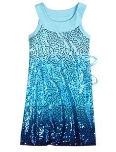 justice for girls dip dye embellish dress