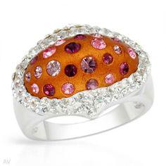 Sterling Silver Crystal Ladies Ring. Ring Size 6. Total Item weight 5.8 g. VividGemz. $29.00. Save 78%!