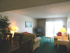 Living room in a 3 bedroom condo