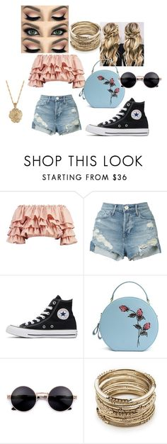 """""""Summer romance"""" by josephine5335 on Polyvore featuring Boohoo, 3x1, Converse, Sole Society and 2028"""