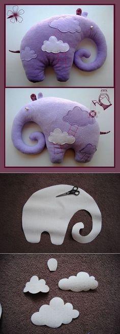 Фиолетовый слоник — как сшить такую мягкую игрушку своими руками | Игрушки своими руками